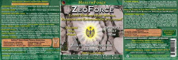 Zeolite Radiation Heavy Metal Detoxification
