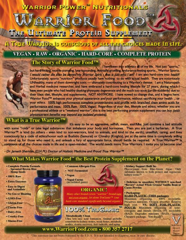 Warrior Blend of Supreme Organic Ingredients